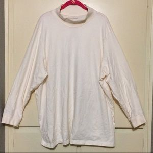 EUC Woman Within Cream 3X (30/32) Shirt